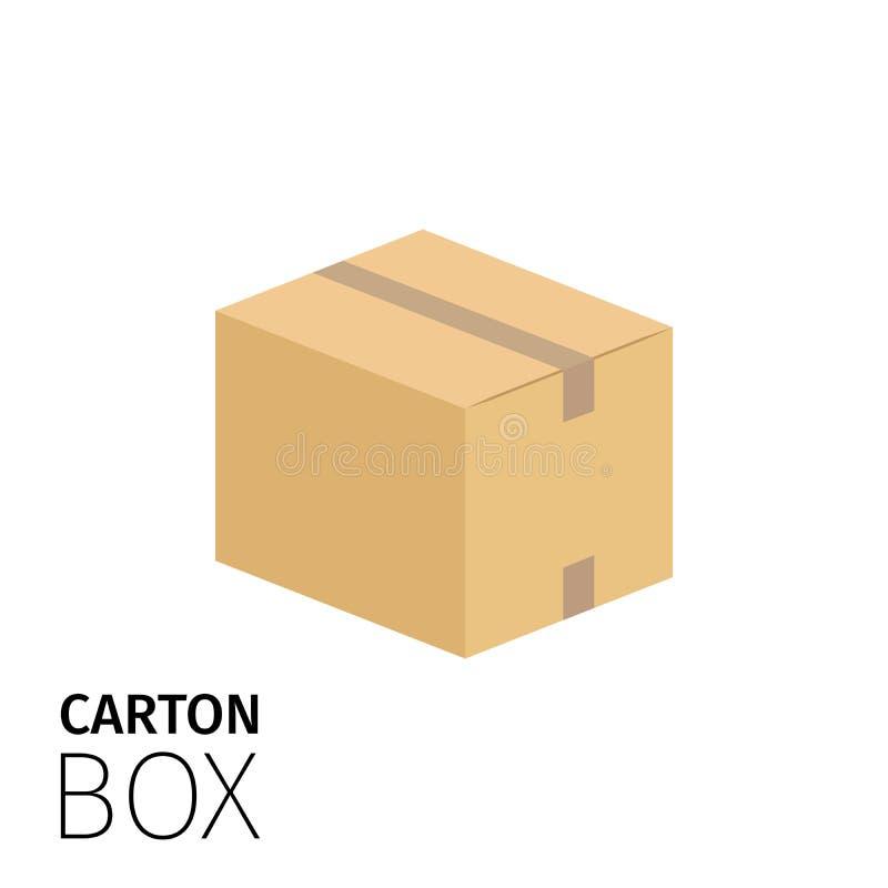 Kartondoos met band wordt verzegeld die royalty-vrije illustratie