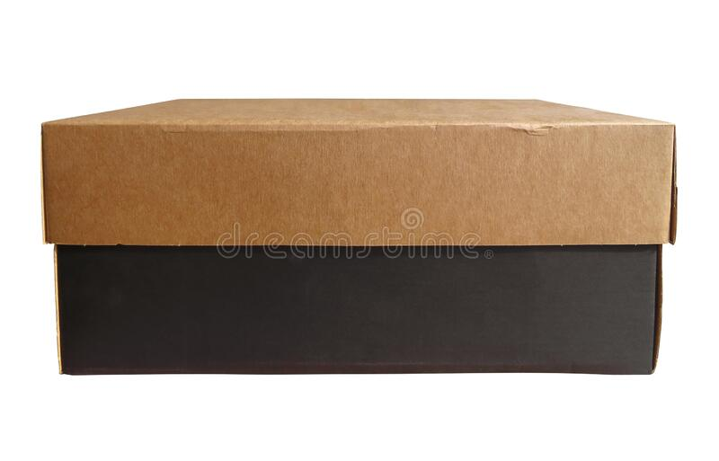 Kartonglådan är isolerad arkivfoton