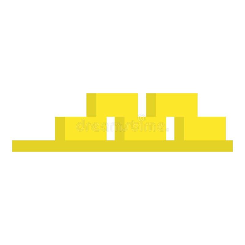 Kartonkasten-Regalikone, flache Art vektor abbildung