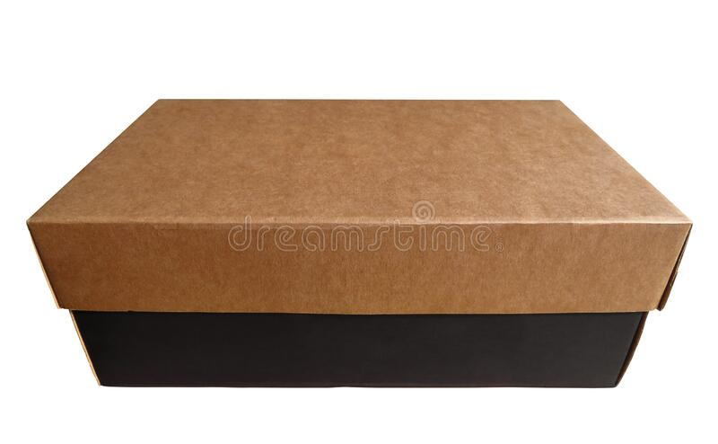 Kartonnen doos geïsoleerd royalty-vrije stock afbeelding