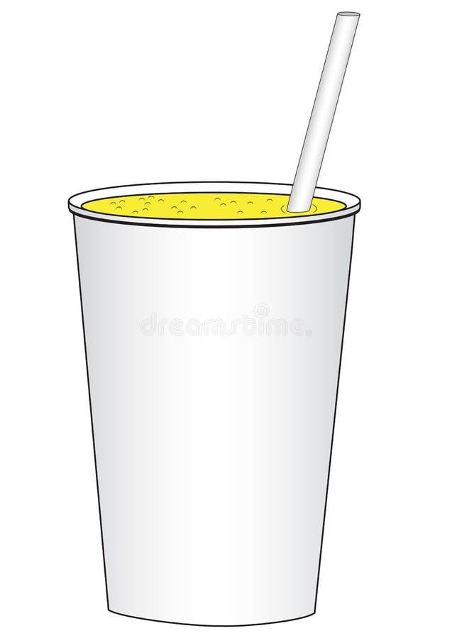 Kartonowa filiżanka z napojem royalty ilustracja