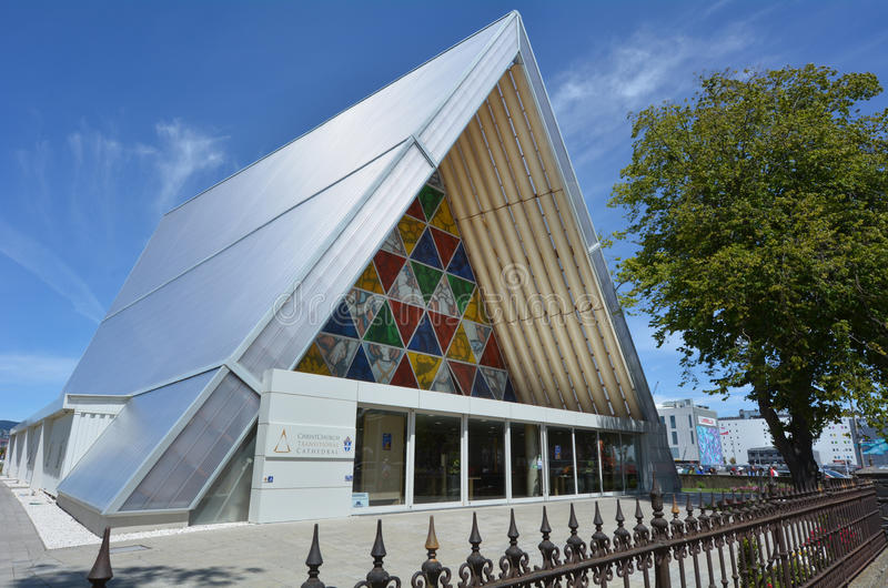 Kartonowy Katedralny Christchurch, Nowa Zelandia - obrazy royalty free