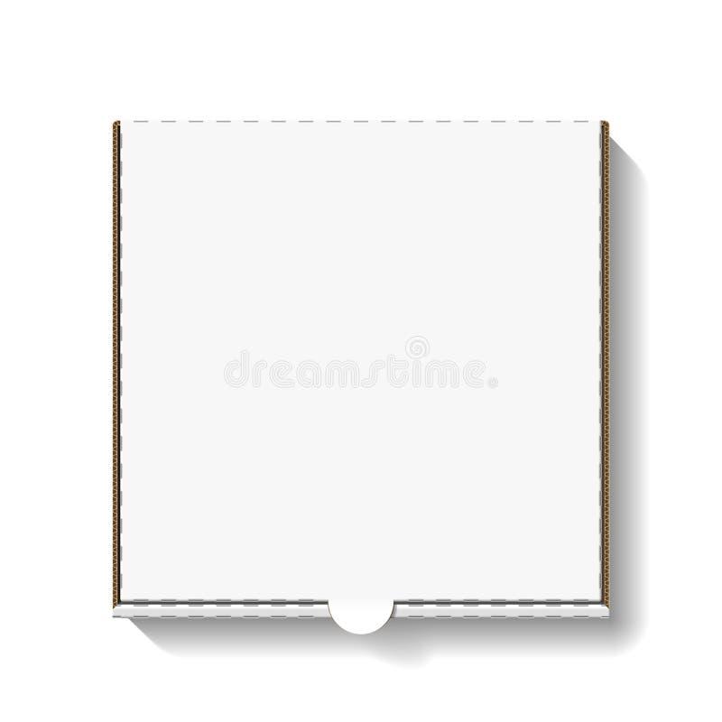 Kartonowy pizzy pudełko ilustracja wektor