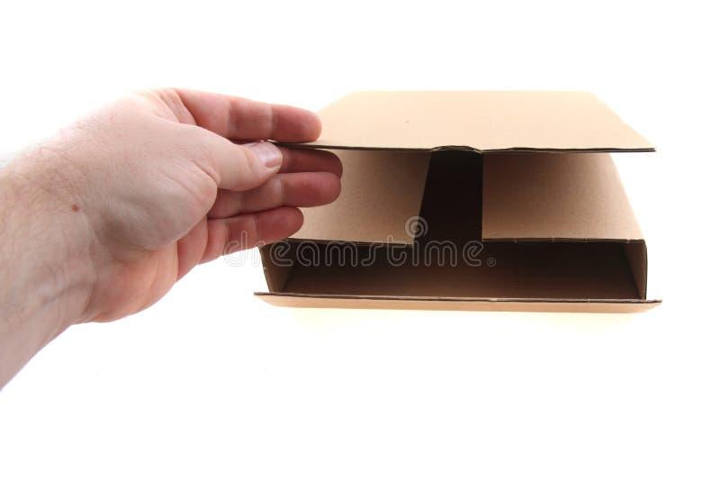 Kartonpapierkasten lokalisiert lizenzfreies stockfoto