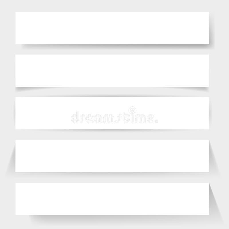 Kartonschaduwen royalty-vrije illustratie