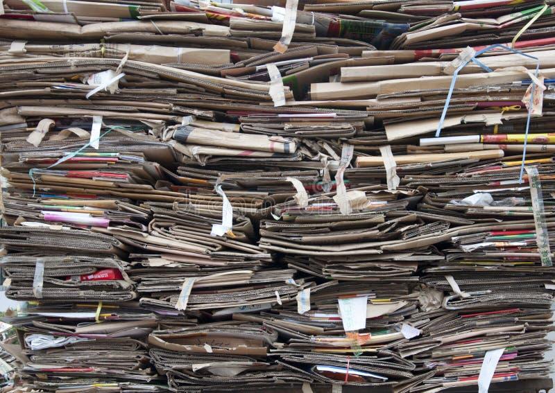 kartonu odpady zdjęcie royalty free