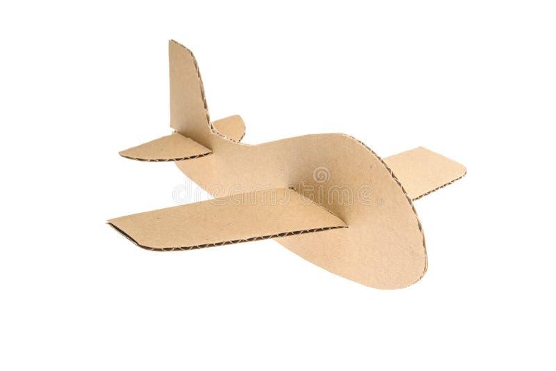 Kartonvliegtuig royalty-vrije stock afbeeldingen