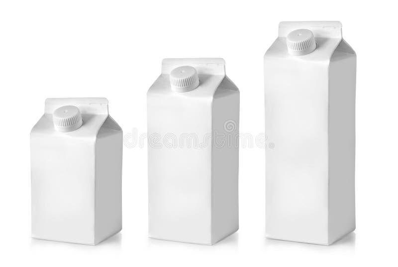 kartony mleka Kartonu pakunek zdjęcia stock