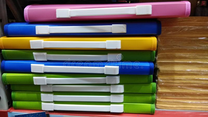 kartotek kolorowe falc?wki zdjęcia royalty free