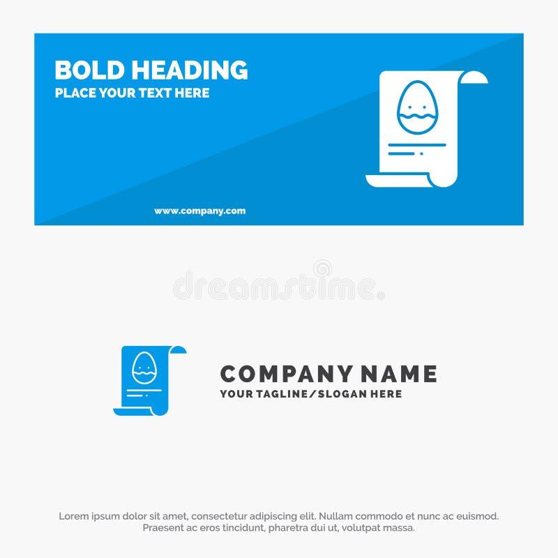 Kartoteka, dane, wielkanoc, Jajeczny stały ikony strony internetowej sztandar i biznesu logo szablon, ilustracja wektor