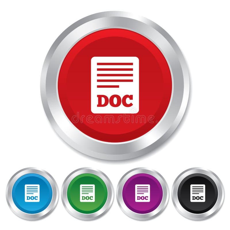 Kartoteka dokumentu ikona. Ściągania doc guzik. ilustracji