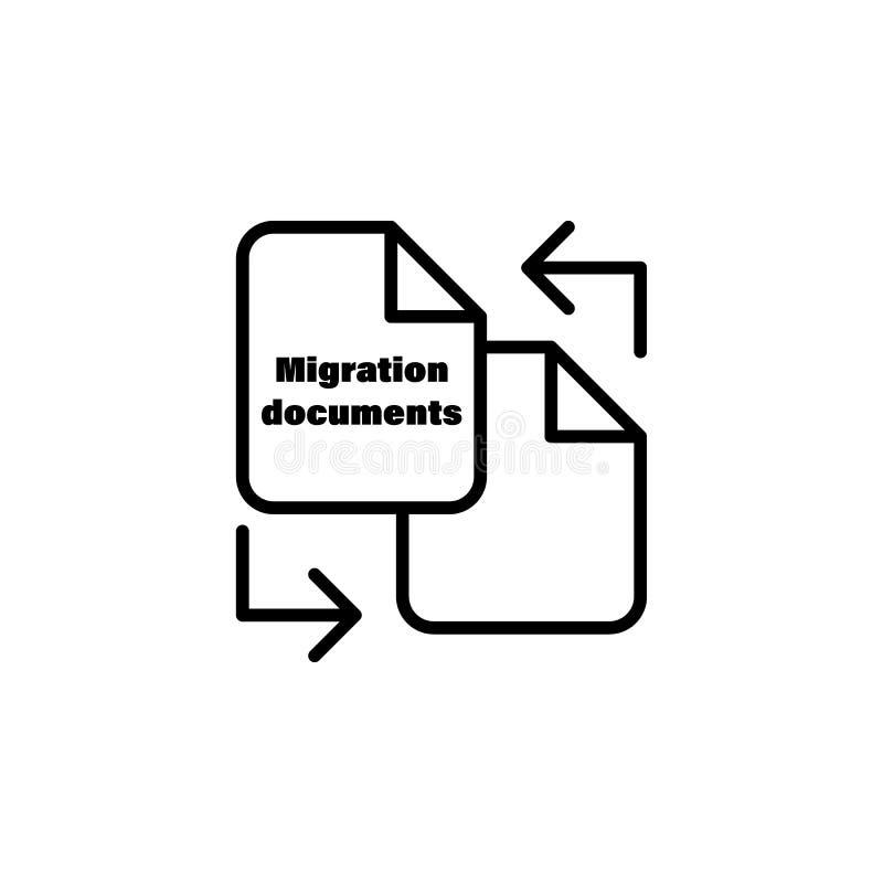 kartoteka dokumentu konturu przesiedleńcza ikona element przesiedleńcza ilustracyjna ikona znaki, symbole mogą używać dla sieci,  ilustracja wektor