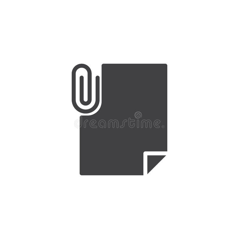 Kartoteki doczepiania wektoru ikona royalty ilustracja