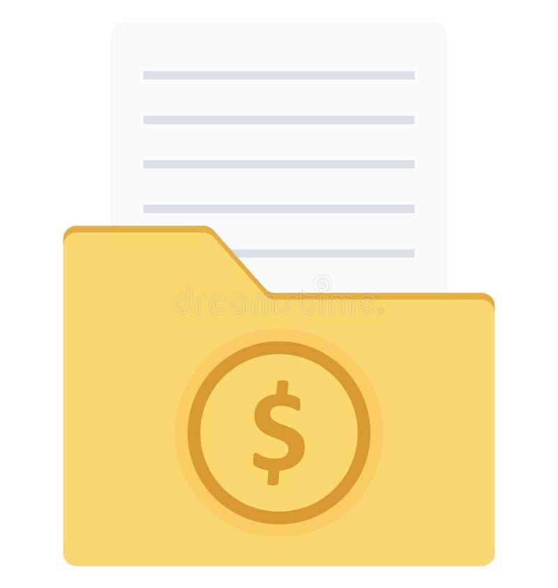 Kartoteki falcówki koloru ikona odizolowywająca i wektor która mogą łatwo redagować lub modyfikujący royalty ilustracja