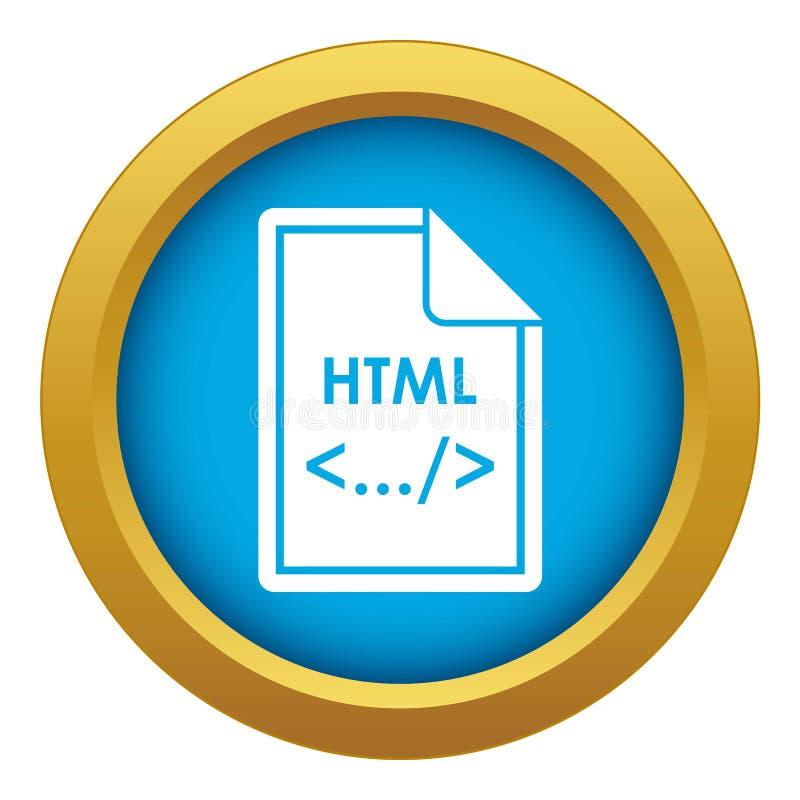 Kartoteki HTML ikony błękitny wektor odizolowywający ilustracja wektor