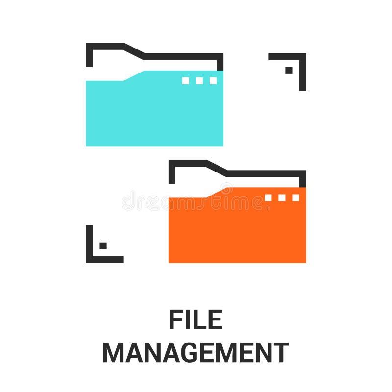 Kartoteki zarządzania ikona ilustracja wektor