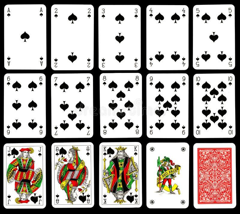 karty bawić się rydle royalty ilustracja