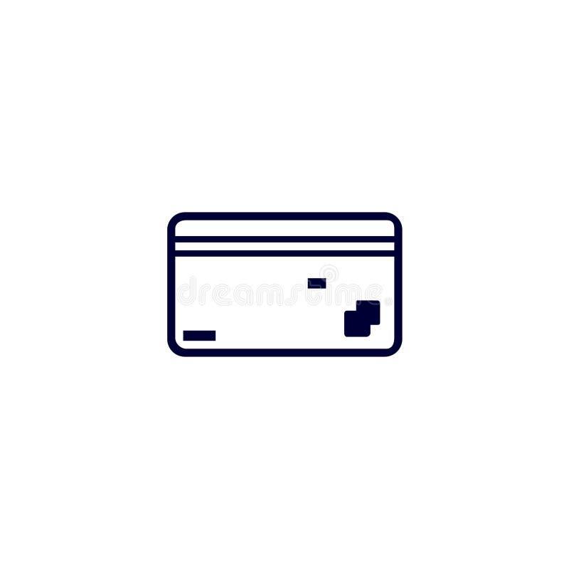 karty debetowej ikona, Wektorowa ilustracja Płaski ikona wektor Na białym tle ilustracja wektor
