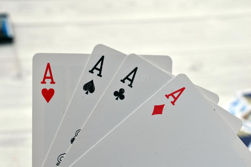 Karty do gry dla kasyna zdjęcie royalty free