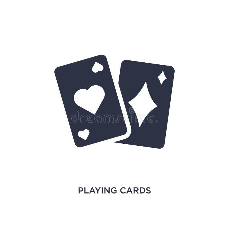 karty do gry ikona na białym tle Prosta element ilustracja od magicznego pojęcia royalty ilustracja