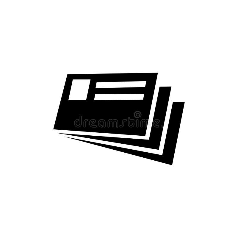 Karty Identyfikacyjna Płaska Wektorowa ikona royalty ilustracja