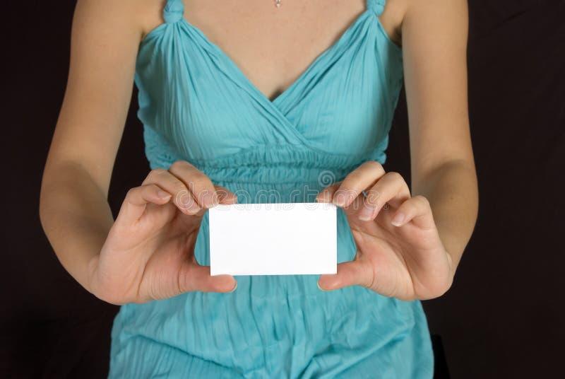 karty imię dziewczyny gospodarstwa obraz royalty free