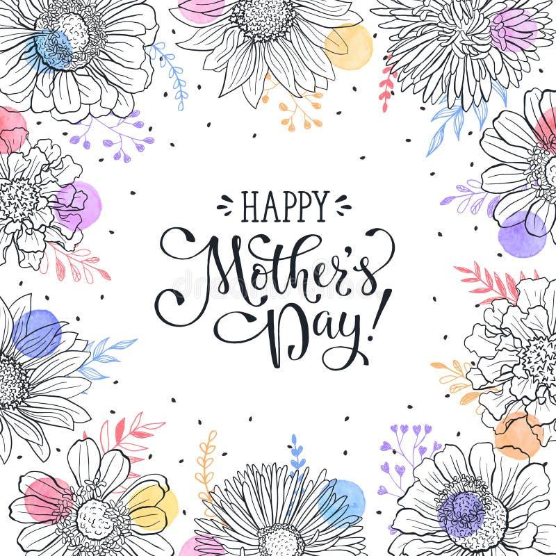 karty jest dzień matki ilustracji