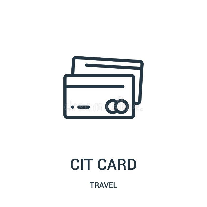 karty kredytowej ikony wektor od podróży kolekcji Cienka kreskowa karta kredytowa konturu ikony wektoru ilustracja Liniowy symbol ilustracja wektor