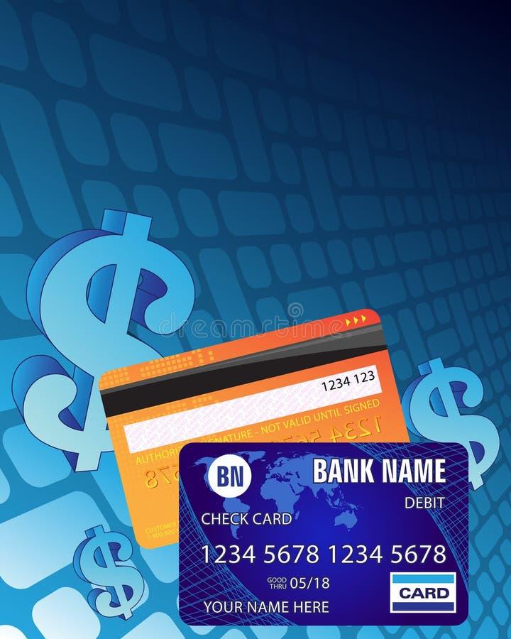karty kredytują dolarowego znaka royalty ilustracja