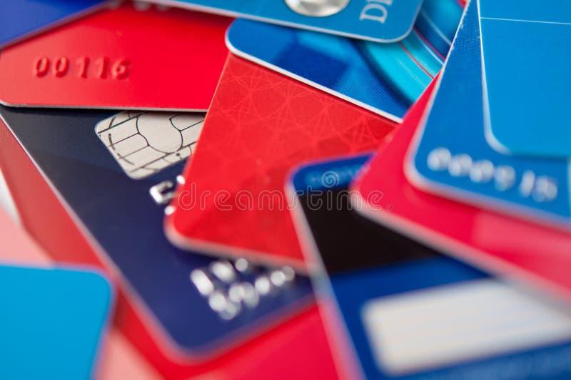 karty kredytują giftcards zdjęcie stock