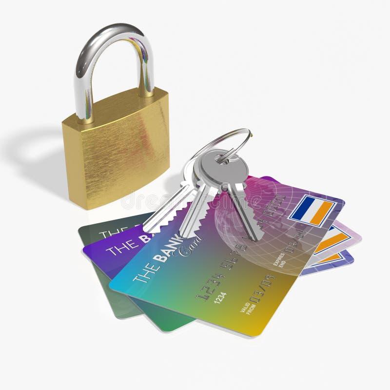 karty kredytują ochronę ilustracja wektor