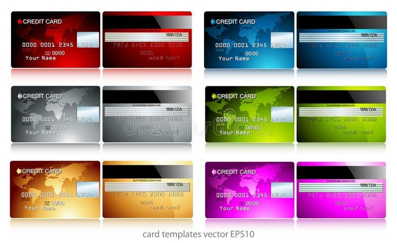 karty kredytują set ilustracja wektor