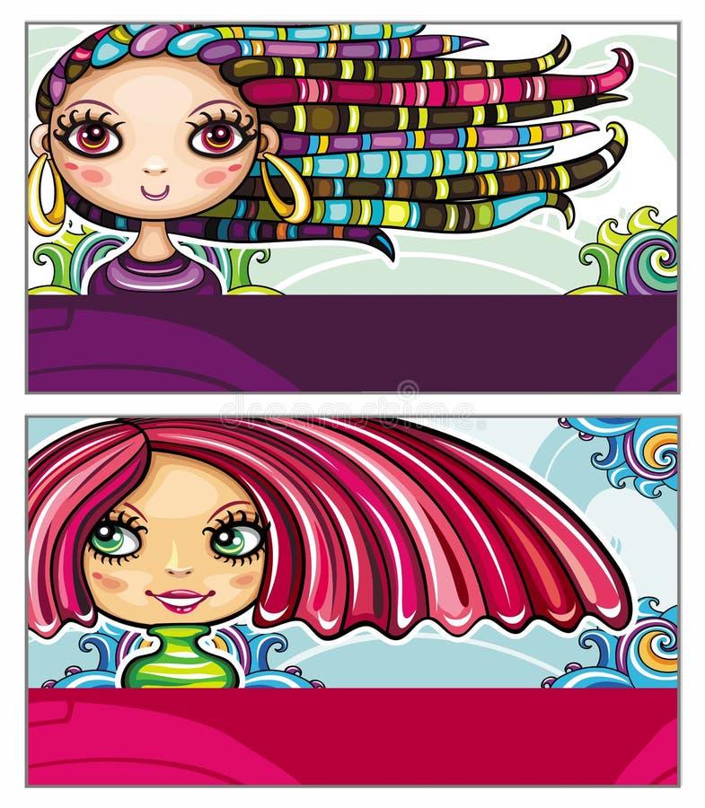 karty moda ilustracji