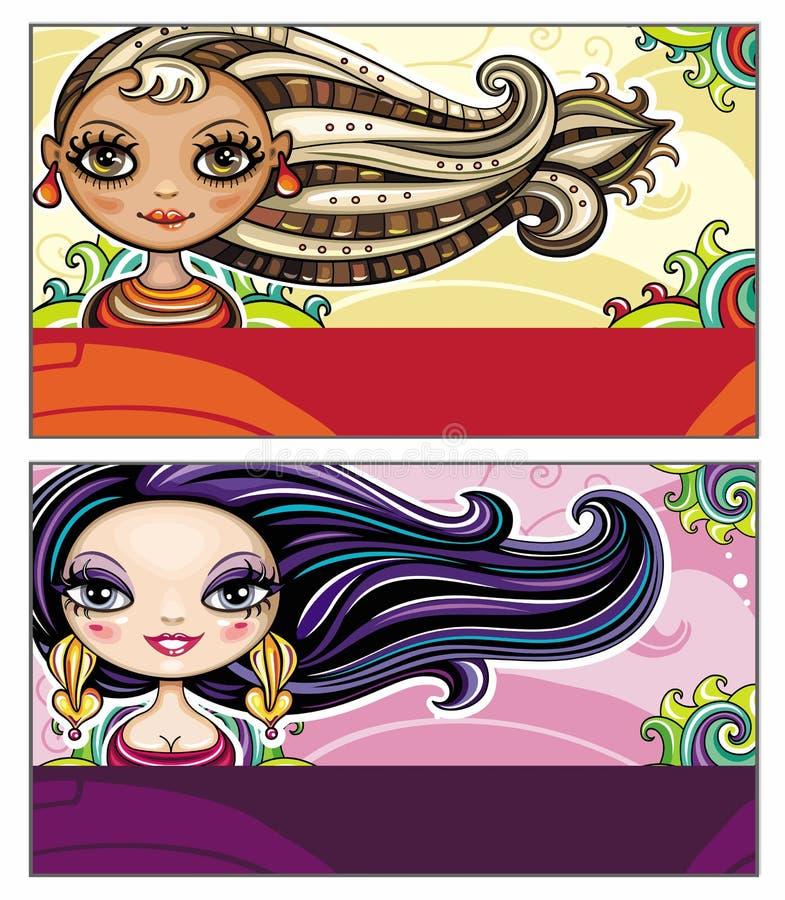 karty moda royalty ilustracja
