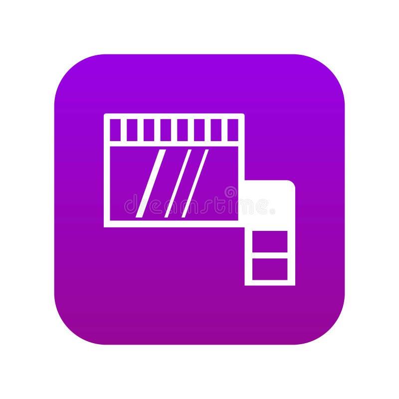 Karty pamięci ikony cyfrowe purpury ilustracja wektor