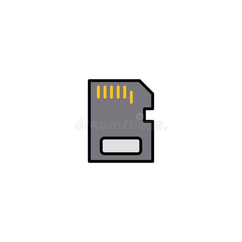 Karty pamięci ikony znaka płaski wektorowy symbol ilustracja wektor
