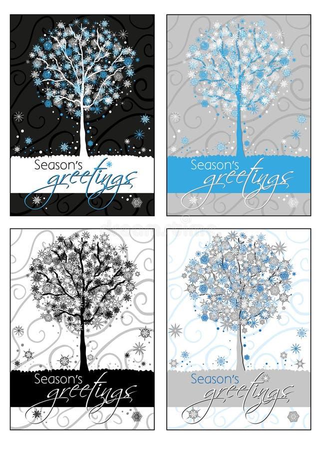 karty powitanie sezon s obrazy stock