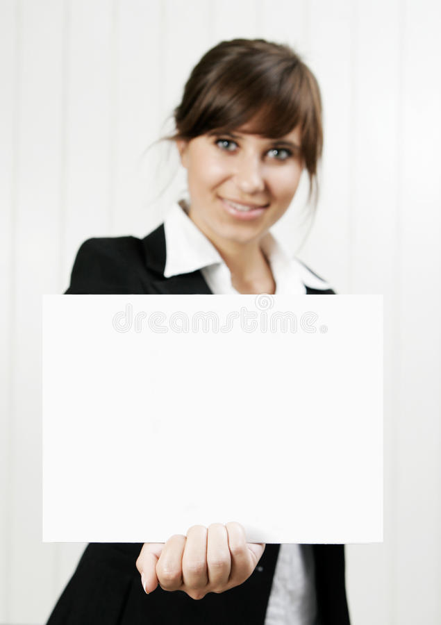 karty pusta mienia kobieta obraz royalty free