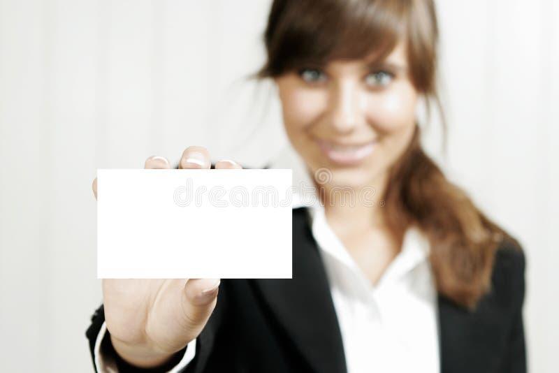 karty pusta mienia kobieta obrazy royalty free