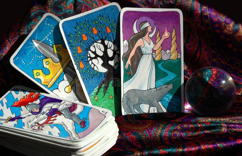 karty tarota obrazy royalty free