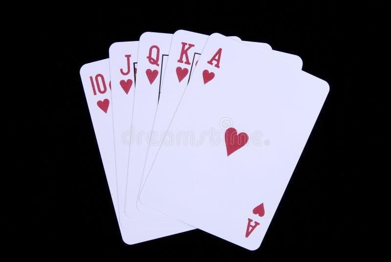 karty w pokera. obraz stock