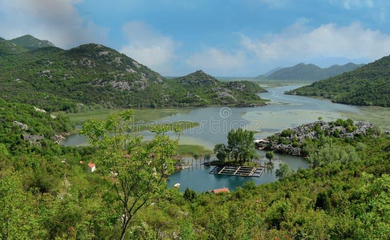 Karuc village on Lake Skadar Montenegro  in the Balkan Peninsula royalty free stock photos