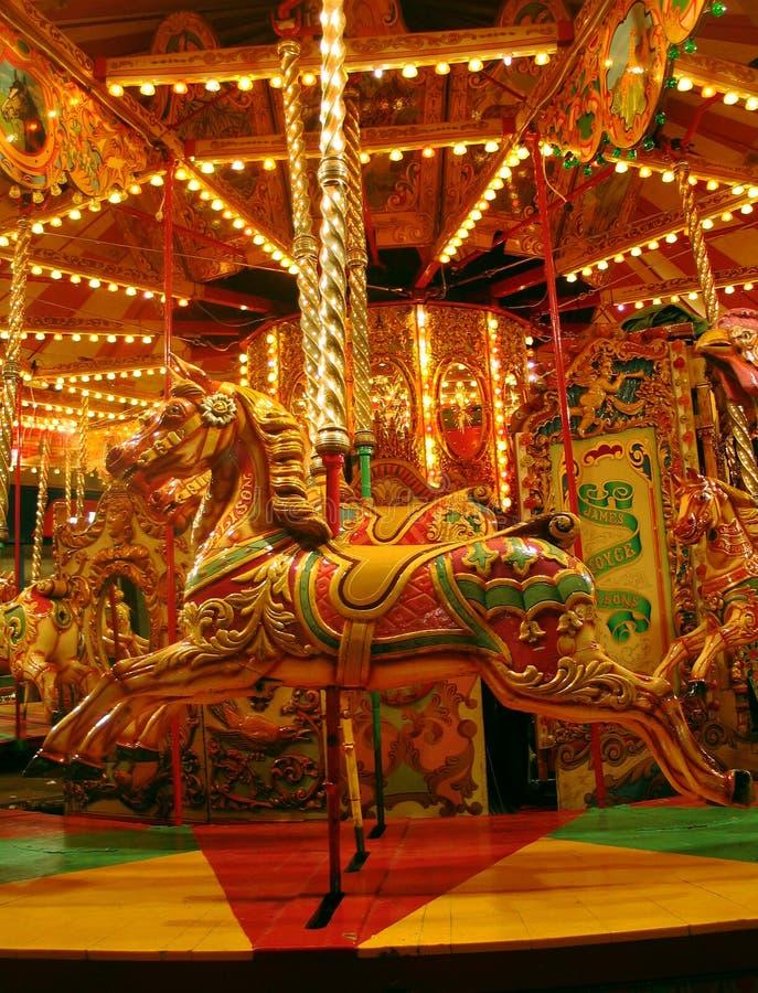 Download Karusell arkivfoto. Bild av nöjesplats, häst, ganska, brigham - 285096
