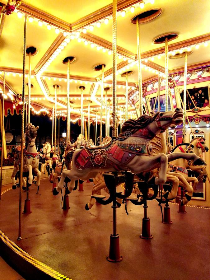 Karusell Hong Kong Disneyland royaltyfri foto