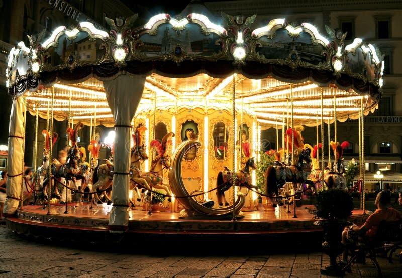 Karusell i Florence, Italien fotografering för bildbyråer
