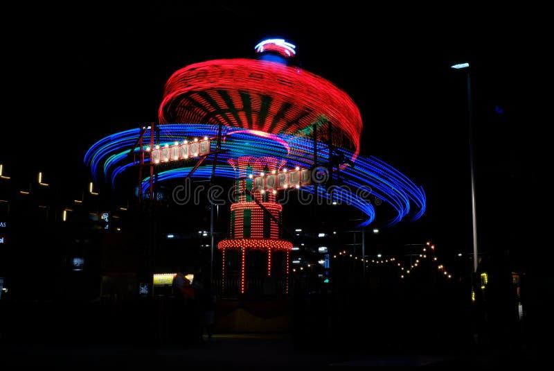 Karusell på natten i Perth royaltyfria bilder