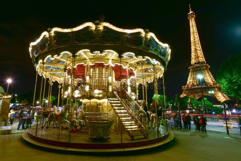 Karusell - Paris, Frankrike arkivfoto