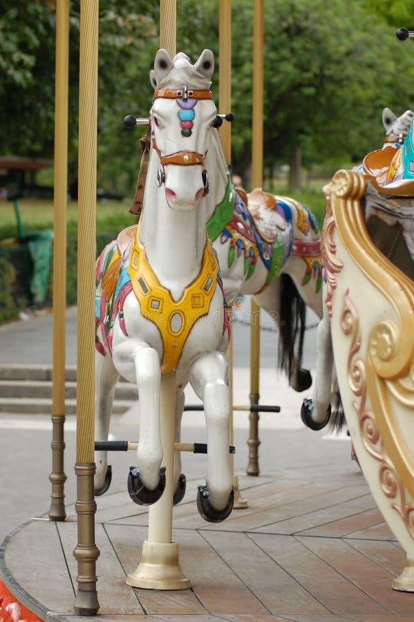 karusellhäst royaltyfri fotografi