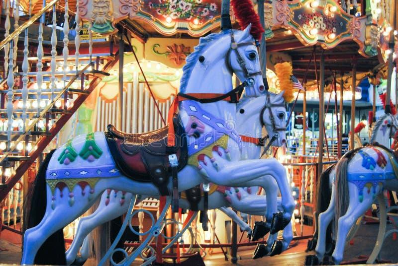 Karusellhästar arkivfoton
