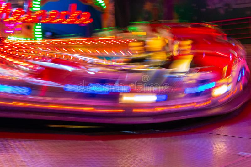 Karussell auf einer Messe in Deutschland stockfotografie
